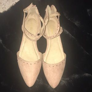 NWT! Nude/pale pink flats